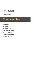 White and Black Bar Business Card Template